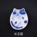 有田焼 ネコの箸置き(水玉猫)