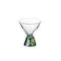 SAKE GLASS(台形)染錦グリーン
