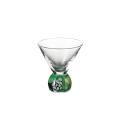 SAKE GLASS(六角)染錦グリーン