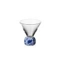 SAKE GLASS(六角)染付華唐草