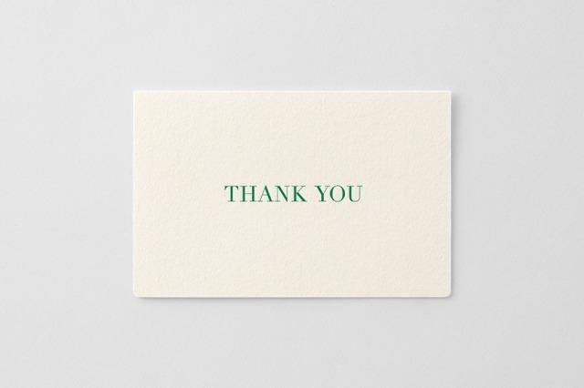 greetings 活版カード サンキュー【4点までネコポス配送可】