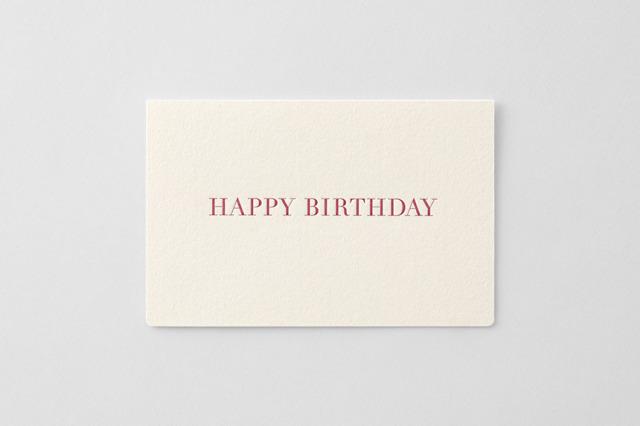greetings 活版カード 誕生日 【4点までネコポス配送可】