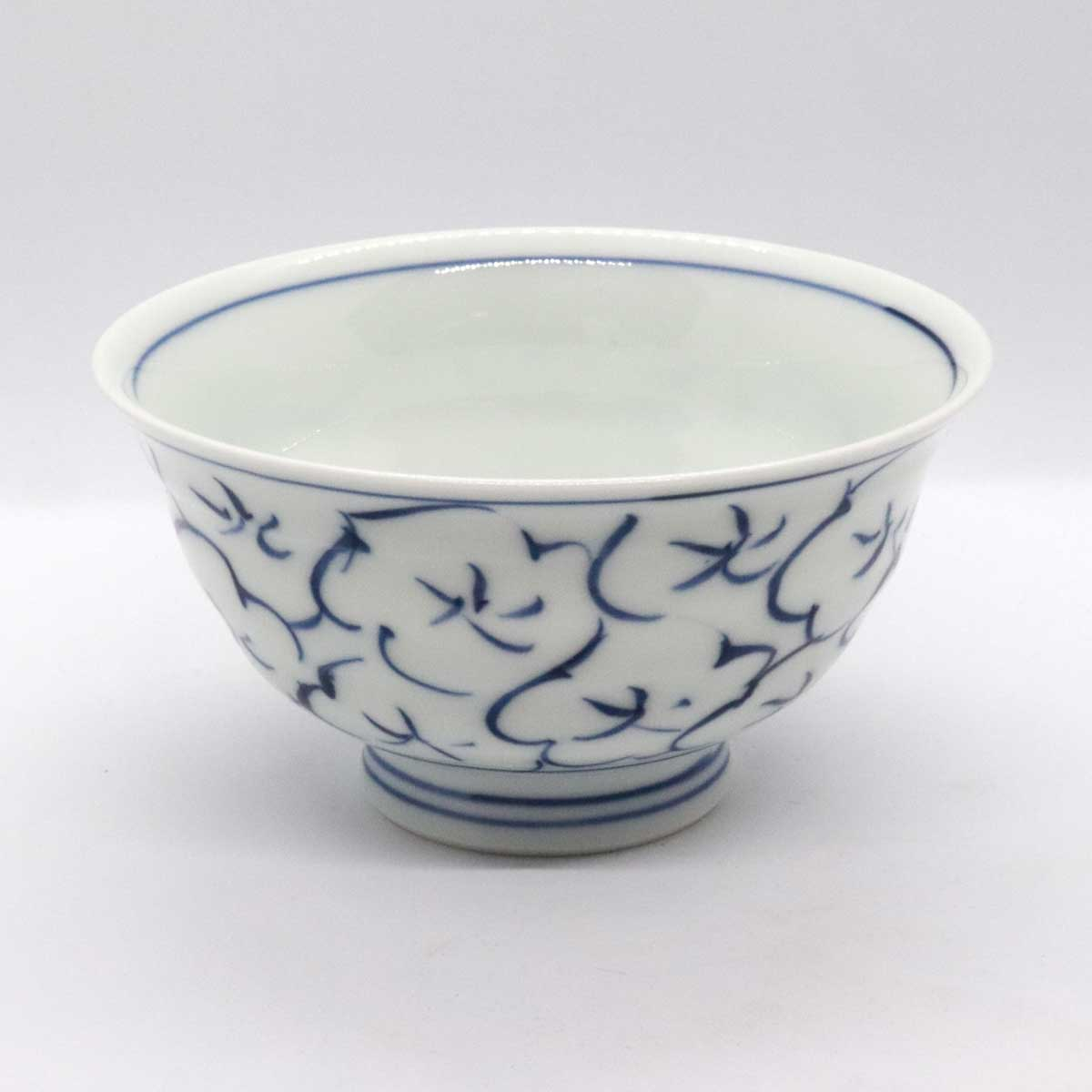 有田焼 色絵 梅花紋 飯碗