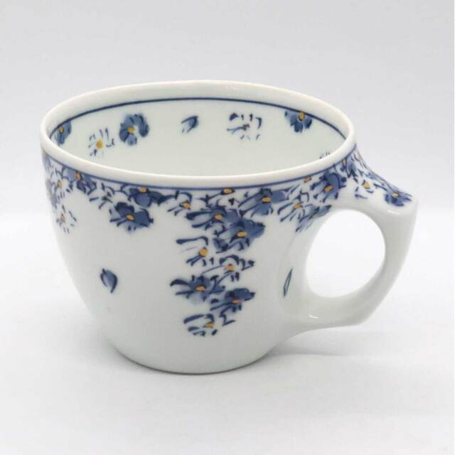 有田焼 色絵 花紋散らしマグカップ