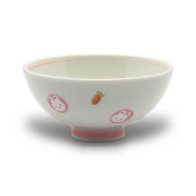有田焼 色絵 子供食器 ミニうさぎ めし碗