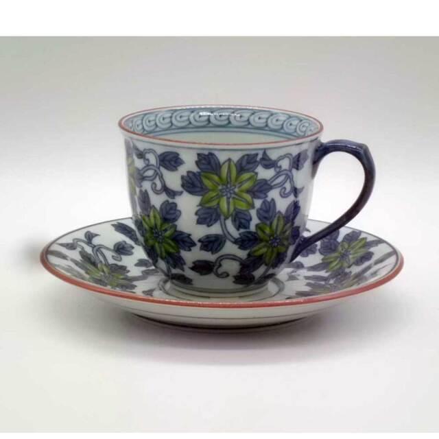 染錦 鉄仙紋 碗皿
