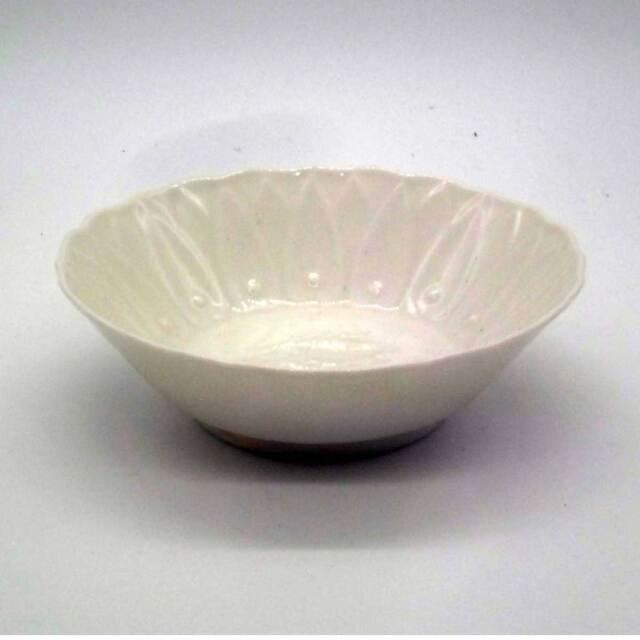 有田焼 ボーン彩 魚彫 小鉢