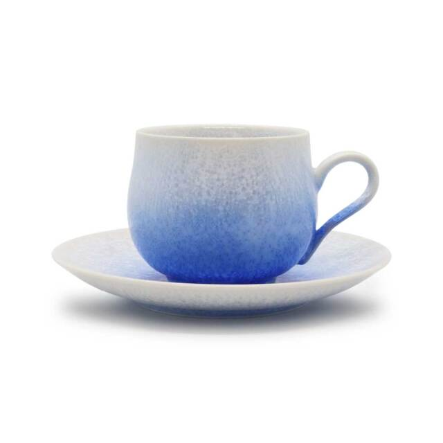 藍染 丸 コーヒー碗皿