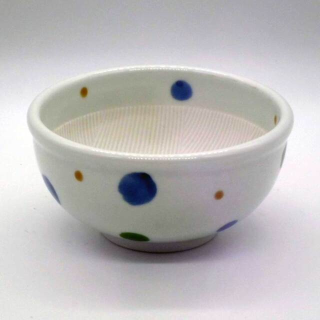 有田焼 色絵 水玉紋 すり鉢
