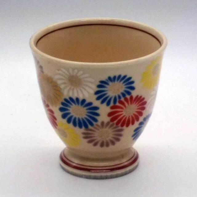 ベージュ釉 菊尽し 仙茶