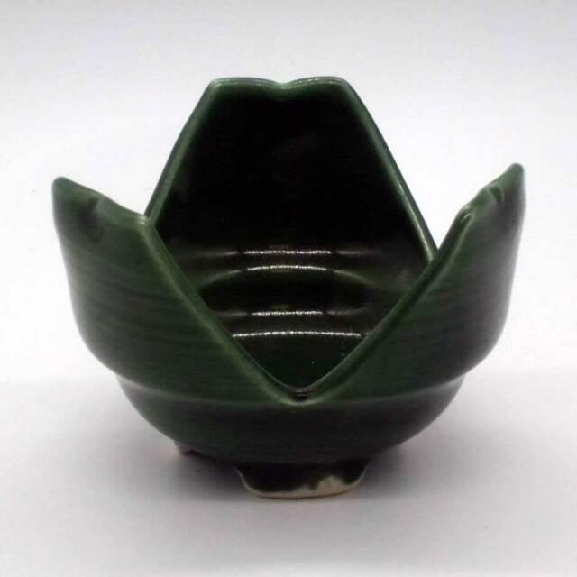 有田焼 緑釉 割山椒 小鉢