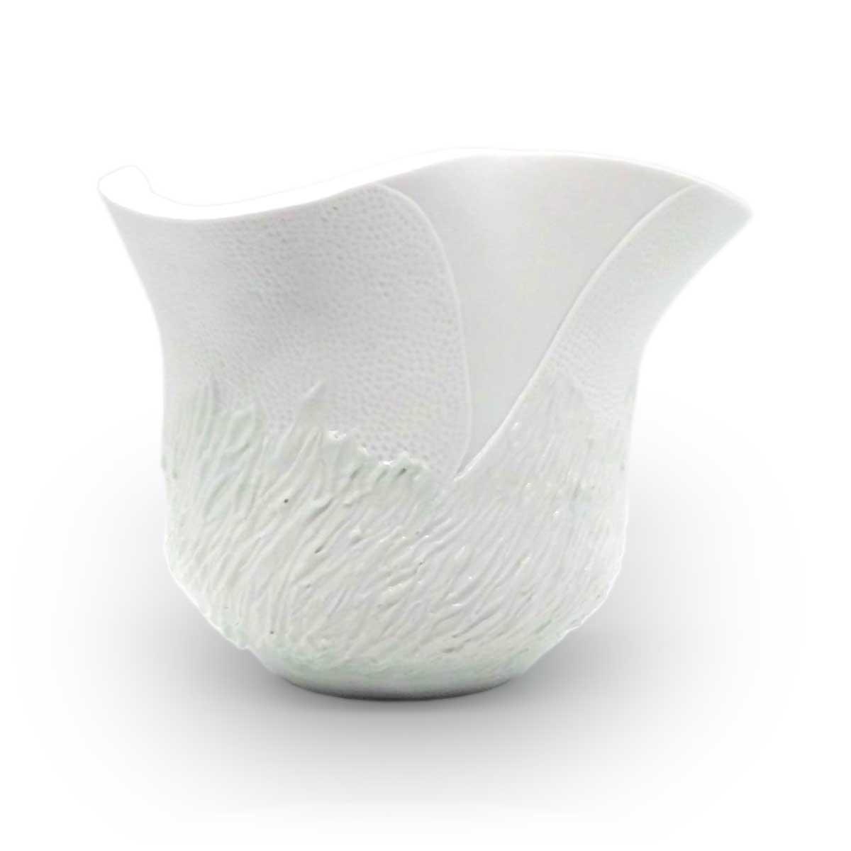 白磁 氷雪の華 花器 松尾博之作
