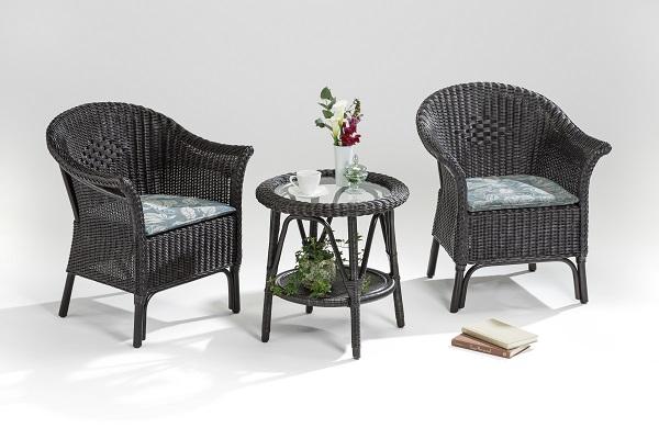 籐・ラタンの椅子スカレアアームチェア/椅子/ウィッカー編み/W69×D60×H78(座面高さ44)/送料無料/KZR-607