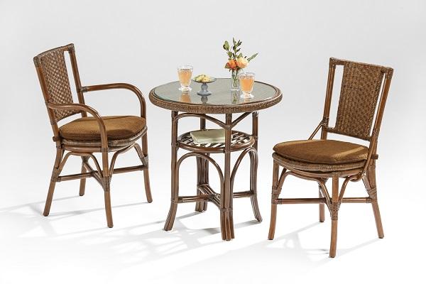 籐・ラタンのダイニングチェア/椅子/最高級品のピール(皮籐)の網代編み/市松のダブル編み/W40×D54×H84(SH45)/送料無料/KZR-206-85AC