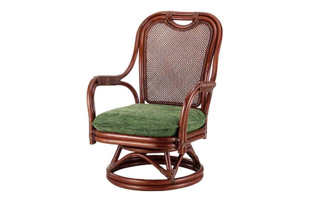 <即納>籐・ラタンの回転椅子/椅子/W59×D67×H78×SH33/高級ピール(籐皮)/即納可能/送料無料/IR-A-255SD