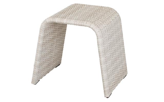 【即納】全天候型・ラタン/スツール・椅子/人工ラタン/48×39cm 高さ 43cm/即納可能/送料無料/IR-P-S-103G