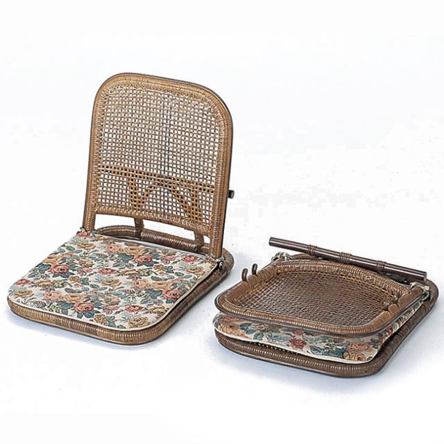 【送料無料】籐・ラタンの背付き座椅子/椅子/W45×D43×H34 SH16/業務用に最適/即納可能/IR-SZ-205D