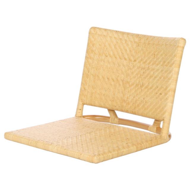 座椅子 YR-SF-006-NA サイズ(cm)W:51 D:57 H:40 | 天然ラタン | 【受注生産 | 送料無料】