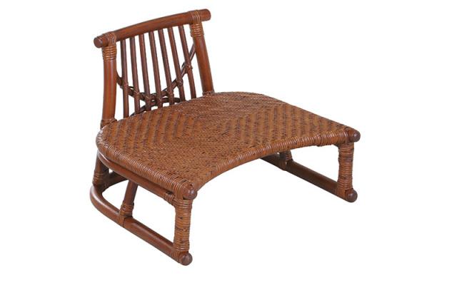 【即納】籐・ラタンの背付き正座椅子/椅子/W45×D43×H34 SH16/業務用に最適/即納可能/送料無料/IR-SZ-205D