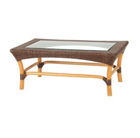 ガラストップローテーブル YR-TL-260-CB サイズ(cm) W:100 D:60 H:40 天然ラタン | 【受注生産 | 送料無料】
