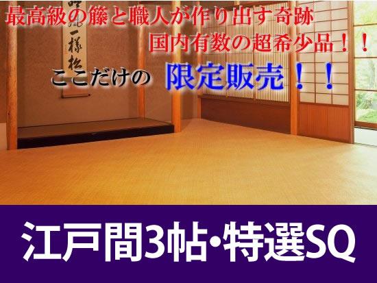 江戸間3帖 あじろ帖物・カーペット
