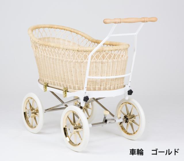 籐・ラタンの乳母車、ベビーカー/スタンダード本体 基本セット/送料無料/PP-20