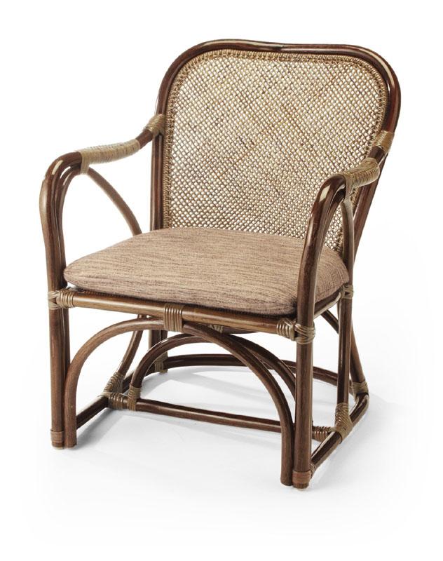 <即納>籐・ラタンのアームチェア/椅子/座面アジロ編み/高級ピール(籐皮)/W55×D62×H70(SH36)/即納可能/送料無料/IR-27CN