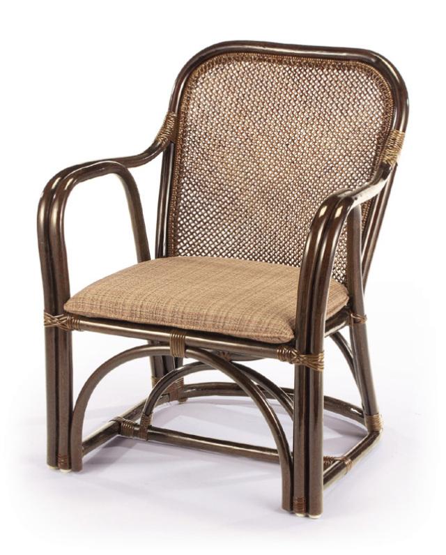 <即納>籐・ラタンのアームチェア/椅子/座面アジロ編み/高級ピール(籐皮)/W58×D58×H73(SH36)/即納可能/送料無料/IR-35CN