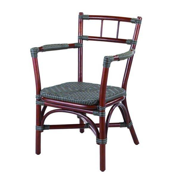 籐・ラタンのアーム付ダイニングチェア/椅子/W56.5×D54×H82.5(SH41.5)/即納可能/送料無料/IR-P-A-124D