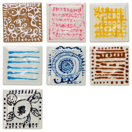 デコライナー(陶芸用盛り絵具)7色セット