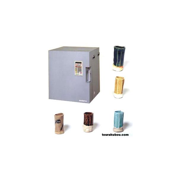 (日本電産シンポ)電気陶芸窯DMT-01型+釉薬5種セット