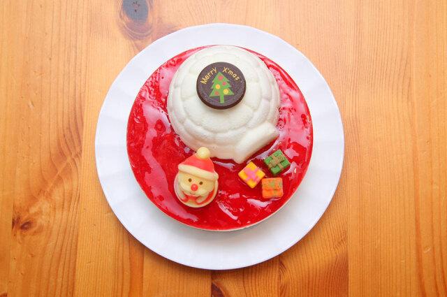 まりひめ苺の煌めくアイスケーキ(上)