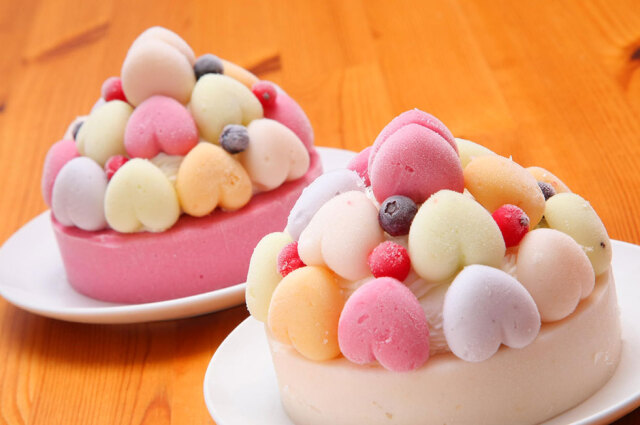 藤桃庵の桃づくしのアイスケーキ