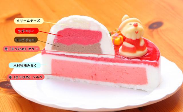まりひめ苺の煌めくアイスケーキ種類