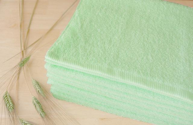 グリーン、黄緑、若草カラータオル