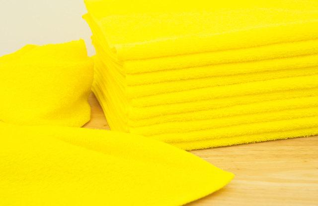 黄色イエローフェイスタオル