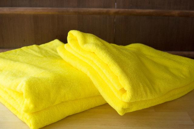 バスタオル カラー 黄色 イエロー  大判 ビッグ