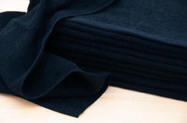230匁黒色ブラックフェイスタオル