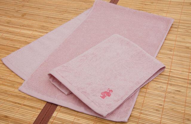 高級ロングフェイスタオル ピンク 桜撫子色