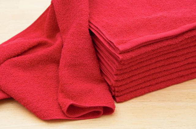 230匁赤色レッドフェイスタオル