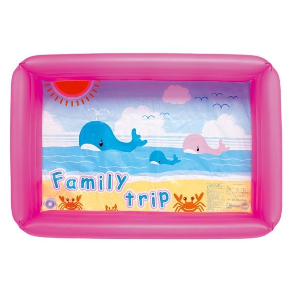 【おもちゃのジャンボ】 プール (角プール)100cm ピンク ビニールプール 水あそび (うきわ・プール・浮き輪) 通販 販売