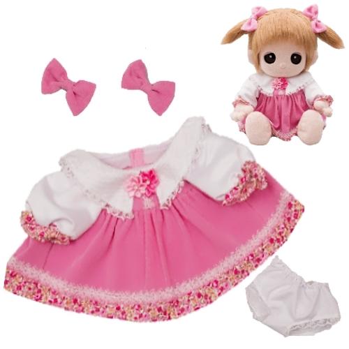 ユメル/YUMEL 夢の子ネルル ネルル ミルル 夢の子コレクション 42 ピンクワンピース (リボン・パンツ付) 服