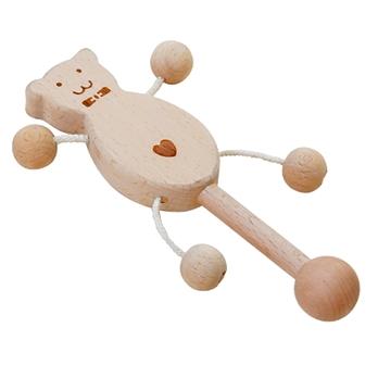 【おもちゃのジャンボ】 木のおもちゃ フリフリベアー 木製玩具 赤ちゃん ファーストトイ 通販 販売