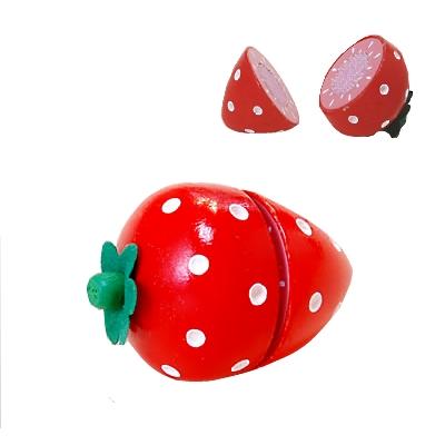 【おもちゃのジャンボ】 木のおもちゃ おままごと 食材 いちご ミニキッチン 拡張パーツ 木製玩具 通販 販売