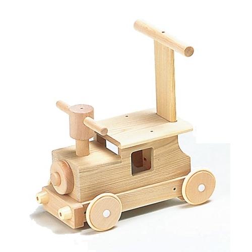 木のおもちゃ 森の汽車ポッポ (乗用)