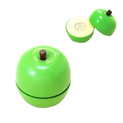【おもちゃのジャンボ】 木のおもちゃ おままごと 食材 青りんご ミニキッチン 拡張パーツ 木製玩具 通販 販売
