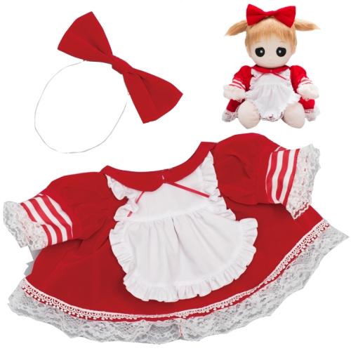 ユメル ネルル ミルル 夢の子コレクション46 ベルベット風フリルドレス(リボン付き) 【おしゃべり人形お洋服】 通販 販売