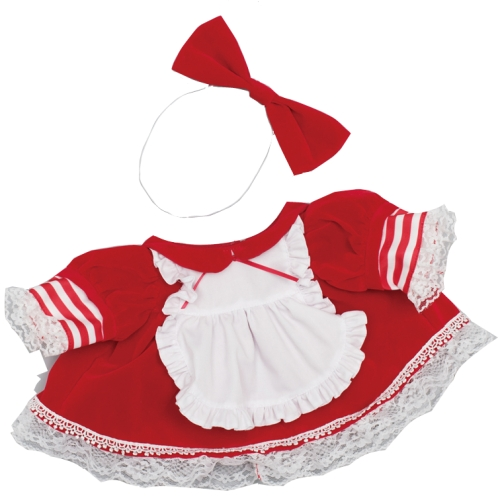【おもちゃのジャンボ】ネルル 夢の子コレクション46 ベルベット風フリルドレス(リボン付き) 【おしゃべり人形お洋服】 通販 販売