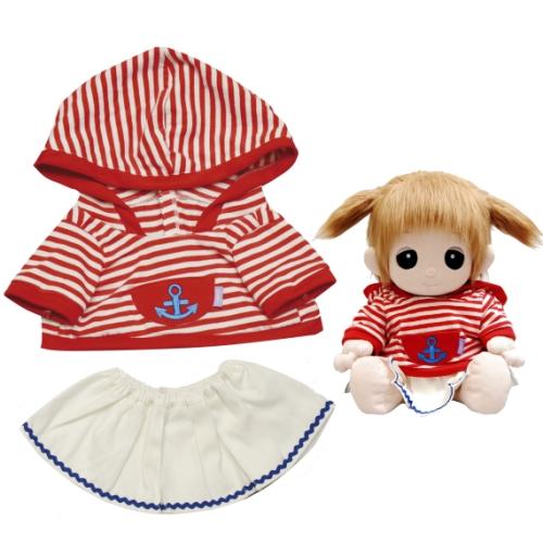 【おもちゃのジャンボ】 夢の子コレクション38 ボーダーパーカー&スカート お洋服 ユメル ネルル ミルル 通販 販売