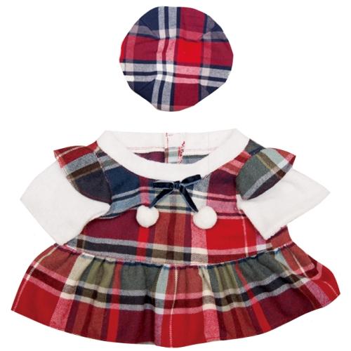 【おもちゃのジャンボ】 夢の子コレクション40 チェック柄ワンピース 帽子付き お洋服 ユメル ネルル ミルル 通販 販売